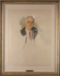 Unfinished portrait of FDR