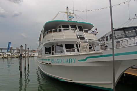 Our boat, the Island Lady.