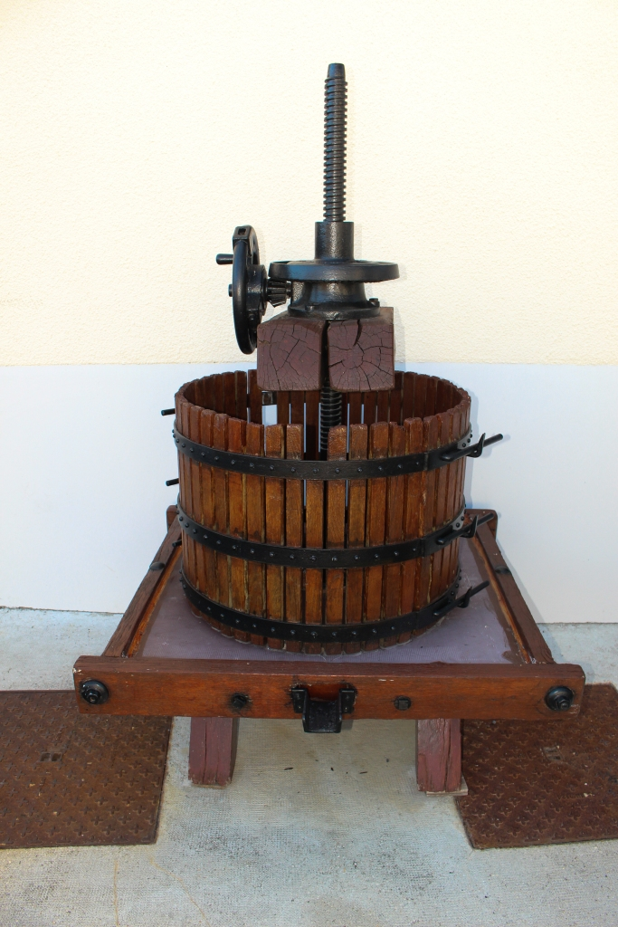 Old hand grape press.
