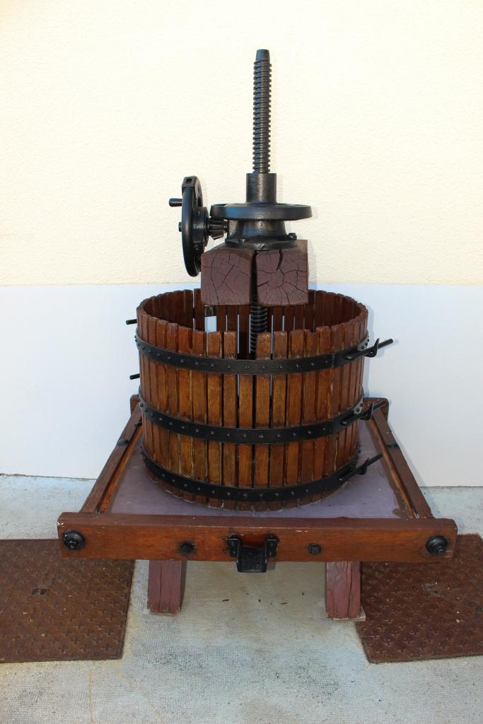 Old hand grape press.