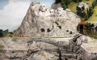 Miniature Mt. Rushmore