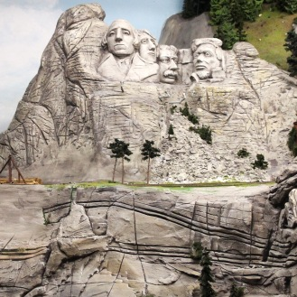 Miniature Mt. Rushmore