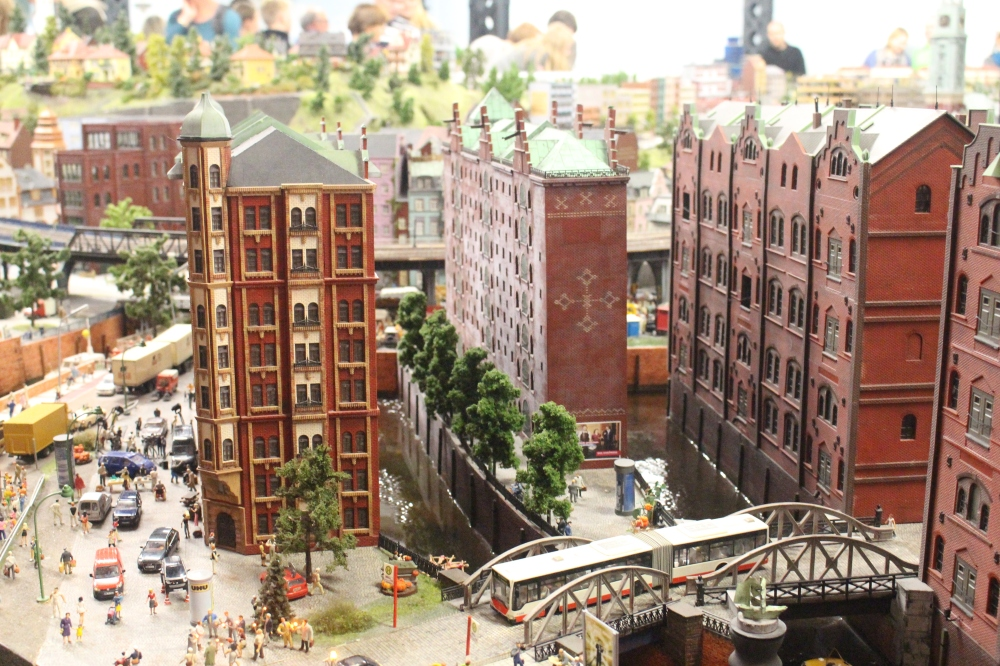 The miniature version of Hamburg's warehouse district.