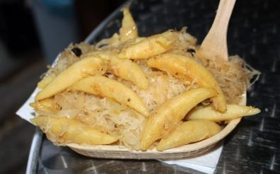 Potato noodles and sauerkraut