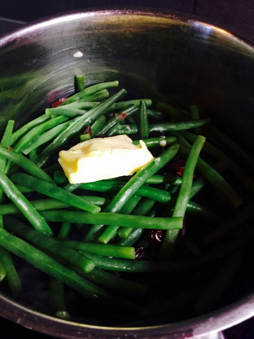 Haricots verts and cranberries