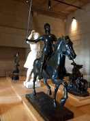 Statues from a room dedicated to Joan of Arc.