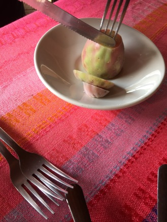 Raw nopal fruit