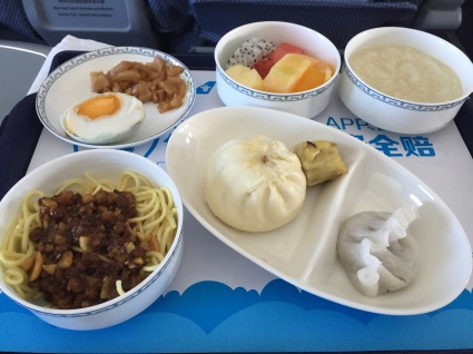 Breakfast on China Southern.