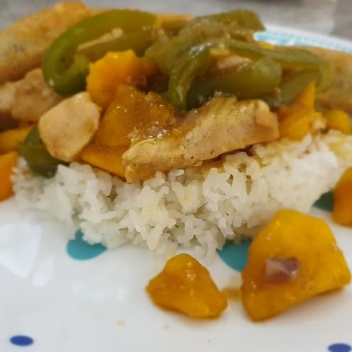Mango stir-fry